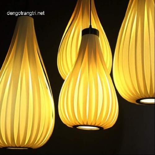 đèn gỗ thả trần
