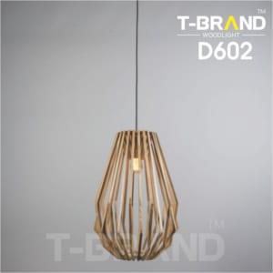 đèn gỗ thả bàn ăn