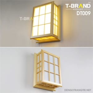 đèn gỗ ốp tường