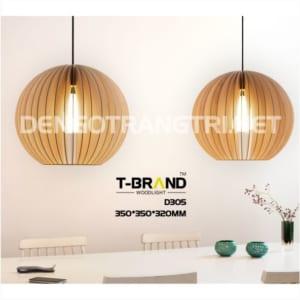 đèn gỗ trang trí phòng khách