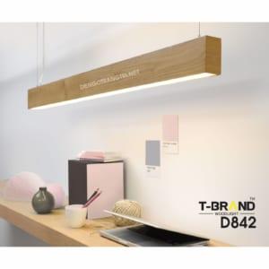 đèn gỗ treo trần
