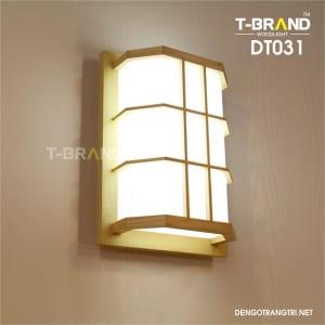 đèn gỗ treo tường
