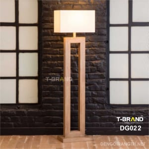 đèn gỗ góc phòng
