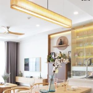 đèn gỗ thả nhà hàng