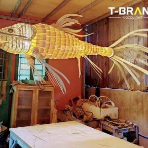 đèn cá gỗ